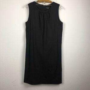Theory black wool sheath sleeveless dress career